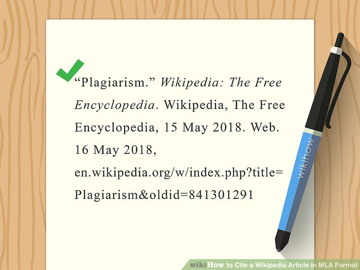 The Best Way to Cite a Wikipedia Article in MLA Format - wikiHow - how to write a mla citation