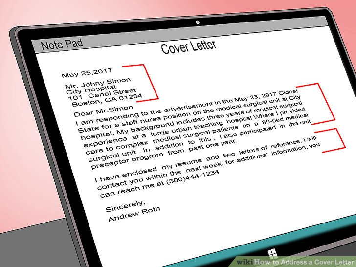 How to Address a Cover Letter 9 Steps (with Pictures) - wikiHow - how do you start a cover letter