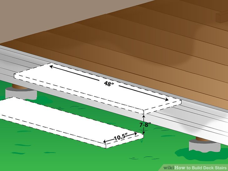 How To Build Deck Stairs 5 Steps With Pictures Wikihow