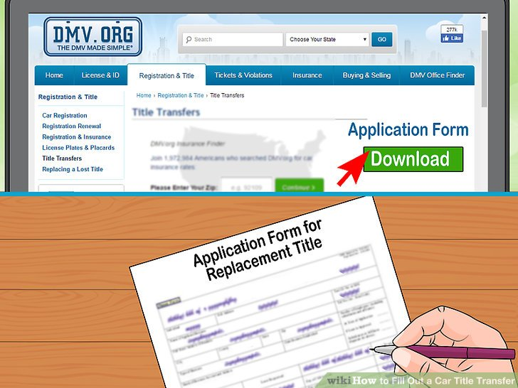 How to Fill Out a Car Title Transfer 11 Steps (with Pictures)