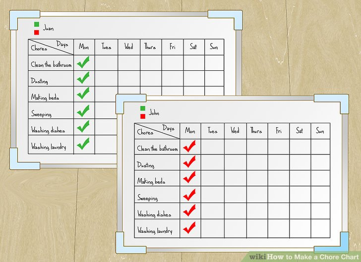 How to Make a Chore Chart (with Pictures) - wikiHow