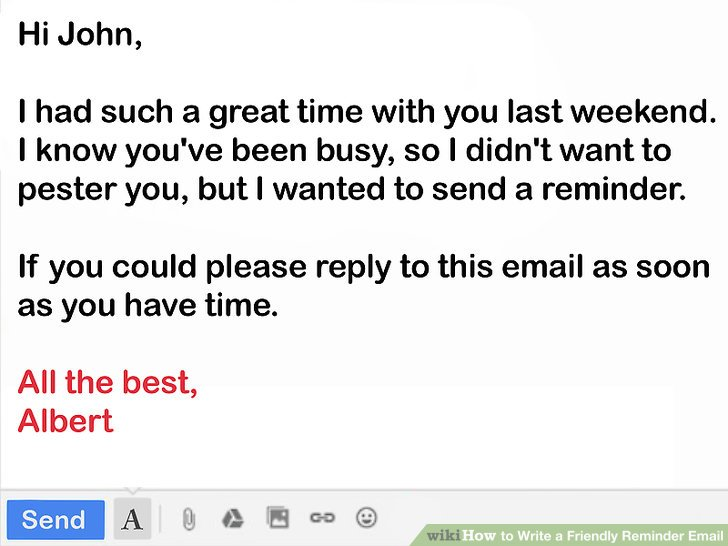 How to Write a Friendly Reminder Email 12 Steps (with Pictures)