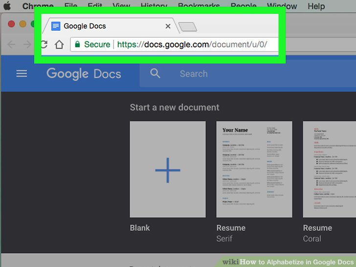 3 Easy Ways to Alphabetize in Google Docs (with Pictures) - how to make a resume on google docs