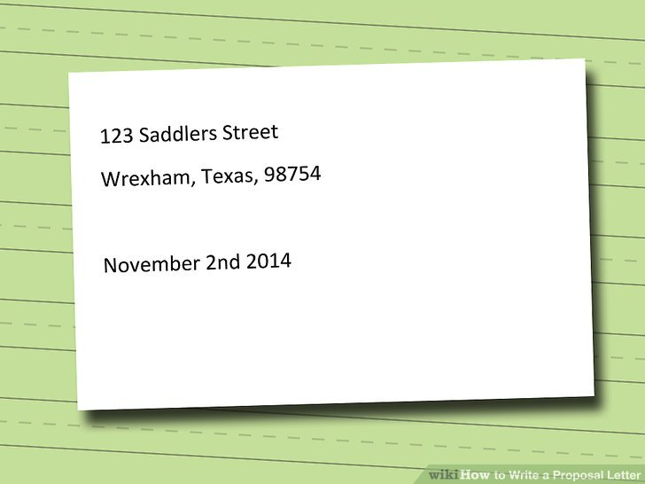 How to Write a Proposal Letter (with Pictures) - wikiHow - proposal letter format
