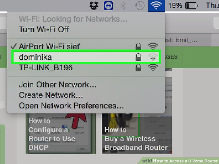How to Access a U Verse Router 9 Steps (with Pictures) - wikiHow
