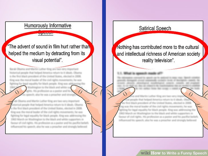 How To Write A Funny Speech With Pictures Wikihow