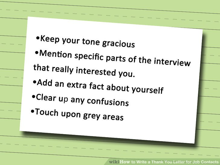 4 Ways to Write a Thank You Letter for Job Contacts - wikiHow
