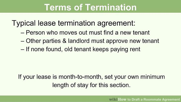 How to Draft a Roommate Agreement 13 Steps (with Pictures) - roommate agreement