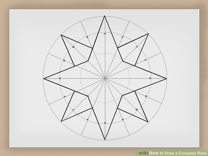 How to Draw a Compass Rose 12 Steps (with Pictures) - wikiHow