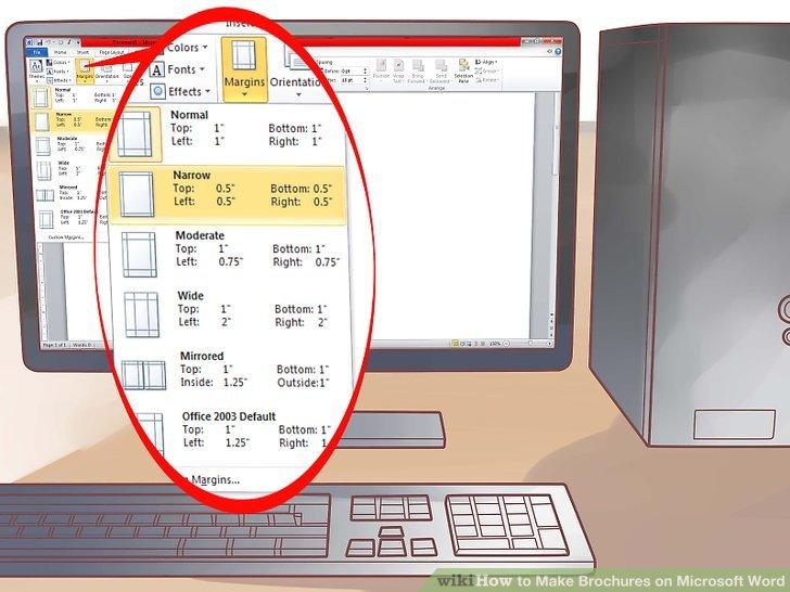 4 Ways to Make Brochures on Microsoft Word - wikiHow - microsoft word tri fold brochure
