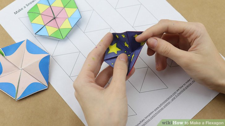 How to Make a Flexagon 13 Steps (with Pictures) - wikiHow - hexaflexagon template