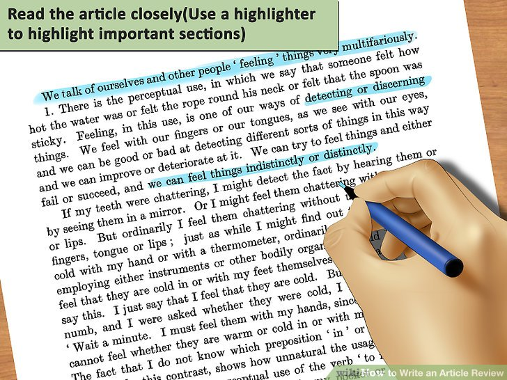 How To Write An Article Review With Sample Reviews Wikihow