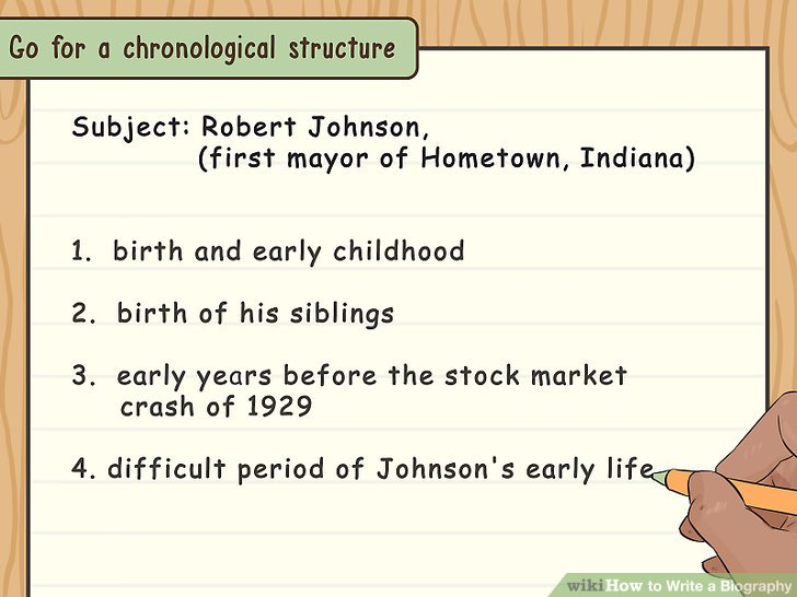 How to Write a Biography (with Examples) - wikiHow - Sample Biography Timeline