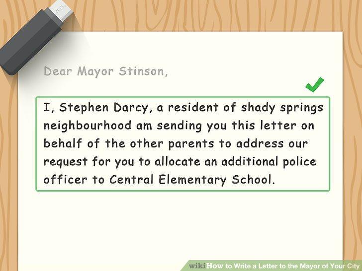 mayor recommendation letter