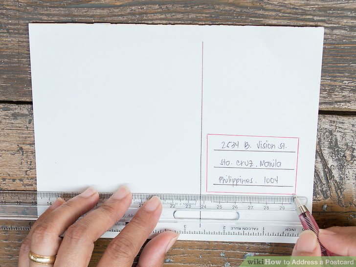 How to Address a Postcard 6 Steps (with Pictures) - wikiHow