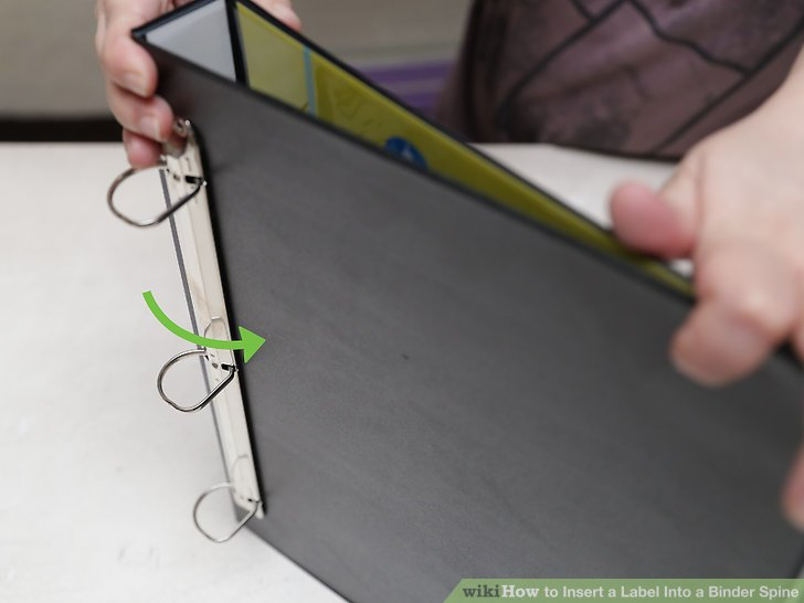 3 Ways to Insert a Label Into a Binder Spine - wikiHow