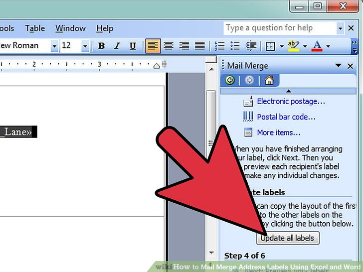 How to Mail Merge Address Labels Using Excel and Word 14 Steps