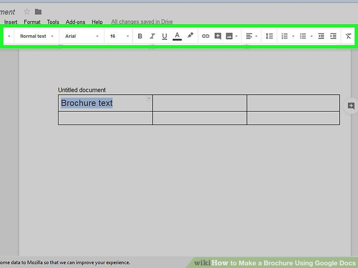 How to Make a Brochure Using Google Docs (with Pictures) - wikiHow