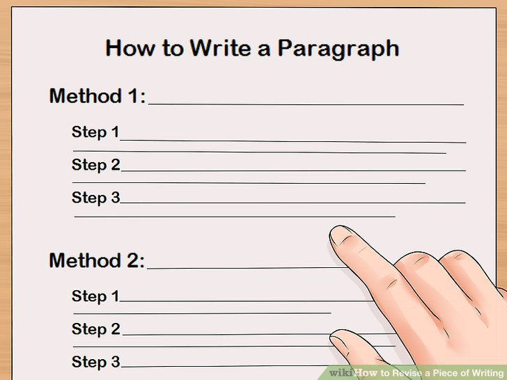 4 Ways to Revise a Piece of Writing - wikiHow