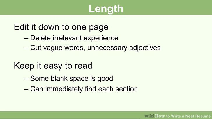 How to Write a Neat Resume 13 Steps (with Pictures) - wikiHow - best resume fonts
