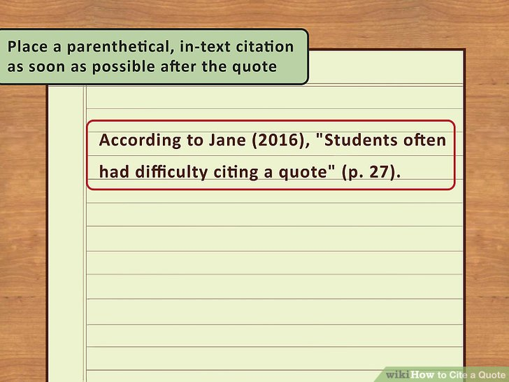 4 Easy Ways to Cite a Quote (with Pictures) - wikiHow - mla style papers