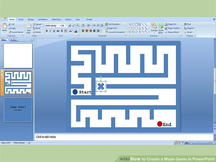 3 Ways to Create a Maze Game in PowerPoint - wikiHow