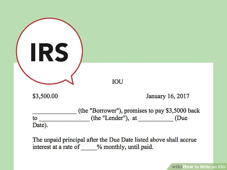 How to Write an IOU 9 Steps (with Pictures) - wikiHow - person to person loan contract