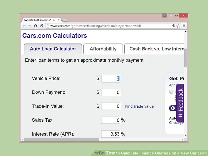2 Easy Ways to Calculate Finance Charges on a New Car Loan
