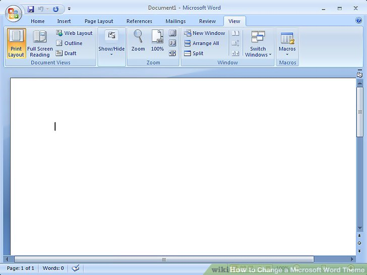 How to Change a Microsoft Word Theme 6 Steps (with Pictures) - mickrosoft word
