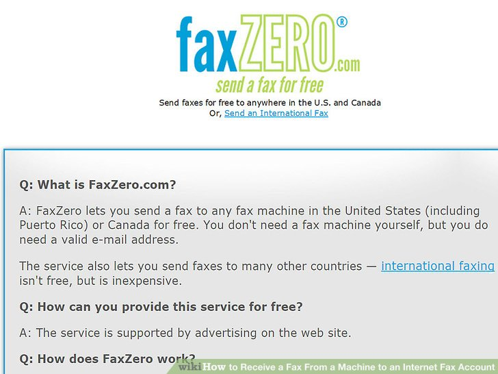 How to Receive a Fax From a Machine to an Internet Fax Account