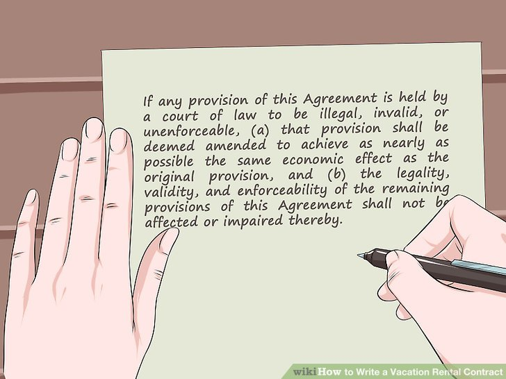 How to Write a Vacation Rental Contract (with Sample Contract) - rental contract agreement