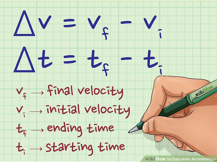 3 Ways to Calculate Acceleration - wikiHow