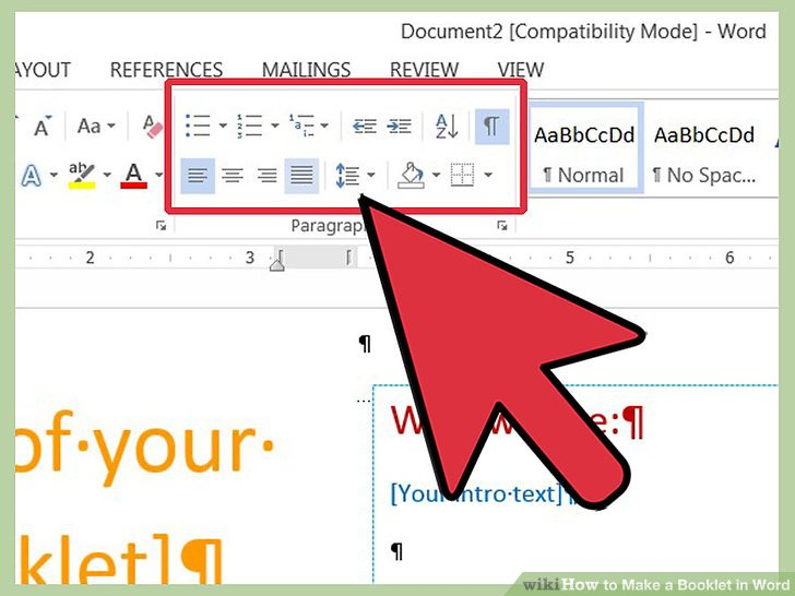 How to Make a Booklet in Word 12 Steps (with Pictures) - wikiHow - booklet template word