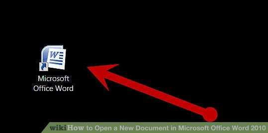 How to Open a New Document in Microsoft Office Word 2010 5 Steps