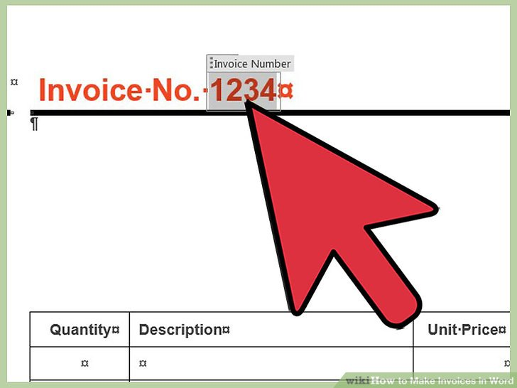 How to Make Invoices in Word 12 Steps (with Pictures) - wikiHow - how to make a invoice on word