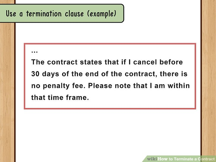How to Terminate a Contract (with Sample Termination Letters) - examples of termination letters