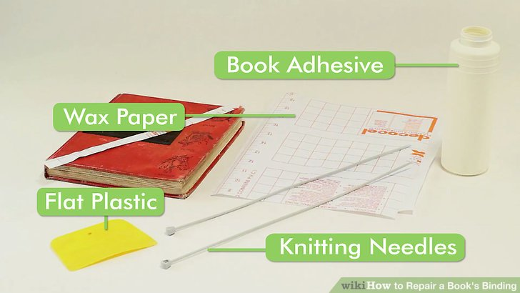 3 Ways to Repair a Book\u0027s Binding - wikiHow
