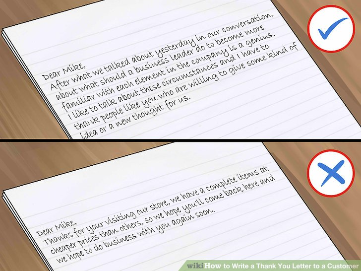 How to Write a Thank You Letter to a Customer (with Sample Thank You - customer thank you letter