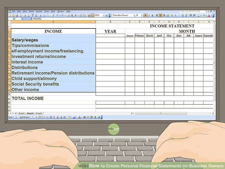 How to Create Personal Financial Statements for Business Owners - financial statements