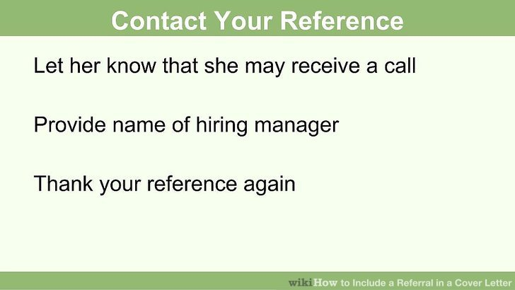 How to Include a Referral in a Cover Letter 15 Steps