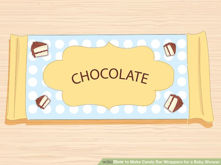 How to Make Candy Bar Wrappers for a Baby Shower (with Pictures)