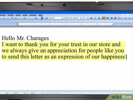 How to Write a Thank You Letter to a Customer (with Sample Thank You