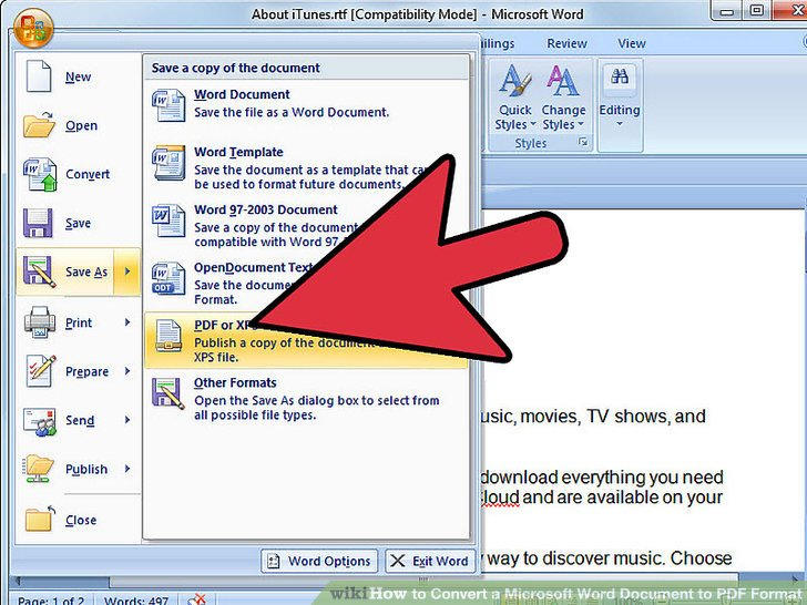 how to convert a word file to pdf - Selol-ink