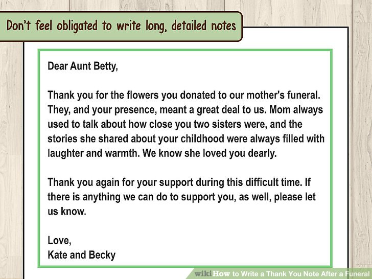 How to Write a Thank You Note After a Funeral 11 Steps