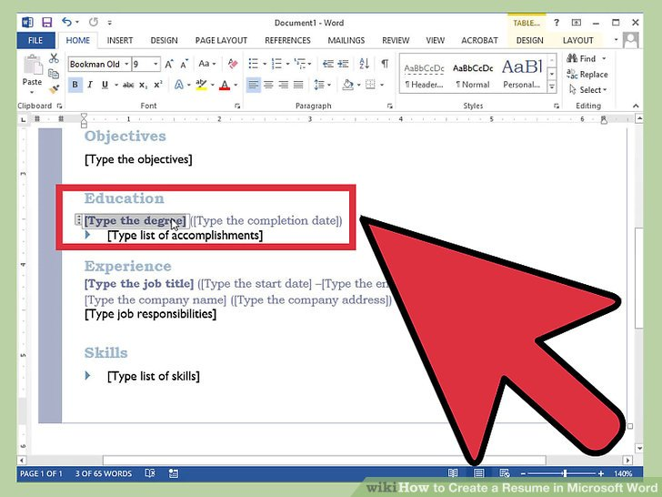 How to Create a Resume in Microsoft Word (with 3 Sample Resumes) - Resume In Word