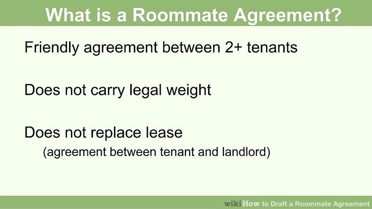 How to Draft a Roommate Agreement 13 Steps (with Pictures) - roommate agreement form