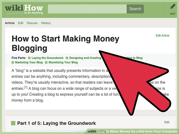 3 Ways to Make Money As a Kid from Your Computer - wikiHow