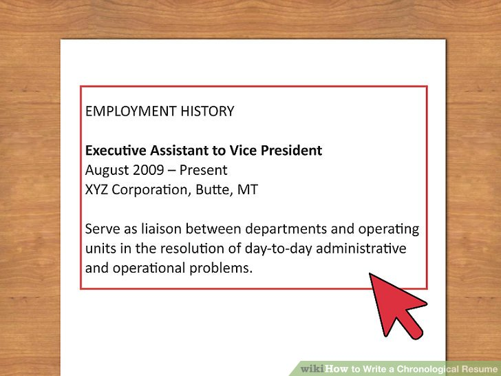 How to Write a Chronological Resume (with Sample Resume) - how to write a chronological resume