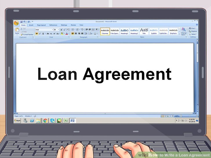 How to Write a Loan Agreement (with Pictures) - wikiHow