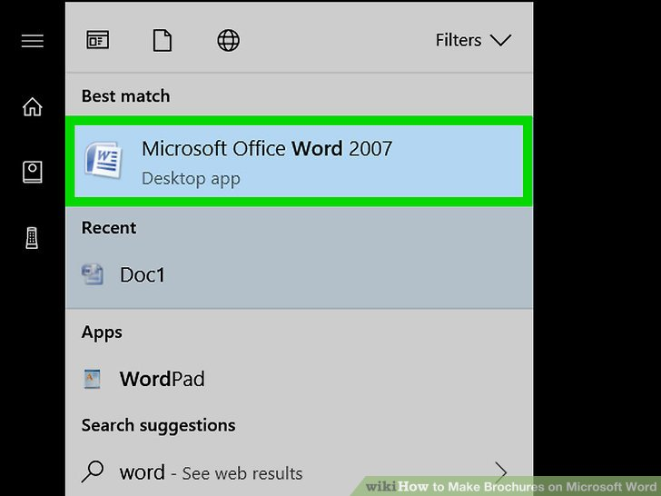 How to Make Brochures on Microsoft Word (with Pictures) - wikiHow